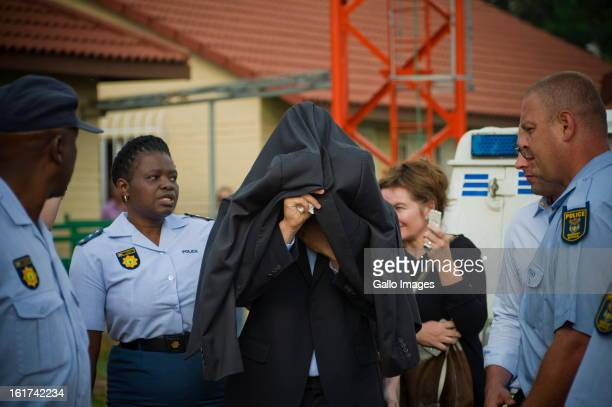 Oscar Pistorius attends the Pretoria Magistrate court on February 15 in Pretoria South Africa Oscar Pistorius stands accused of murder after shooting...