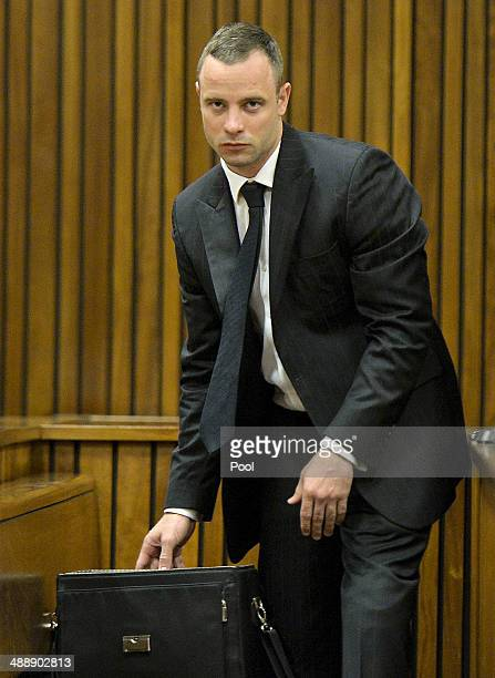 Oscar Pistorius in the dock at the Pretoria High Court on May 9 in Pretoria, South Africa. Oscar Pistorius stands accused of the murder of his...