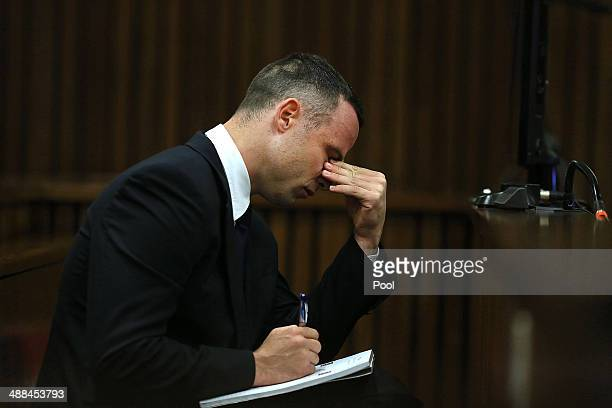 Oscar Pistorius inside the Pretoria High Court on May 6 in Pretoria, South Africa. Oscar Pistorius stands accused of the murder of his girlfriend,...