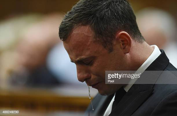 Oscar Pistorius reacts in the Pretoria High Court on September 11 in Pretoria, South Africa. South African Judge Thokosile Masipa has ruled out...