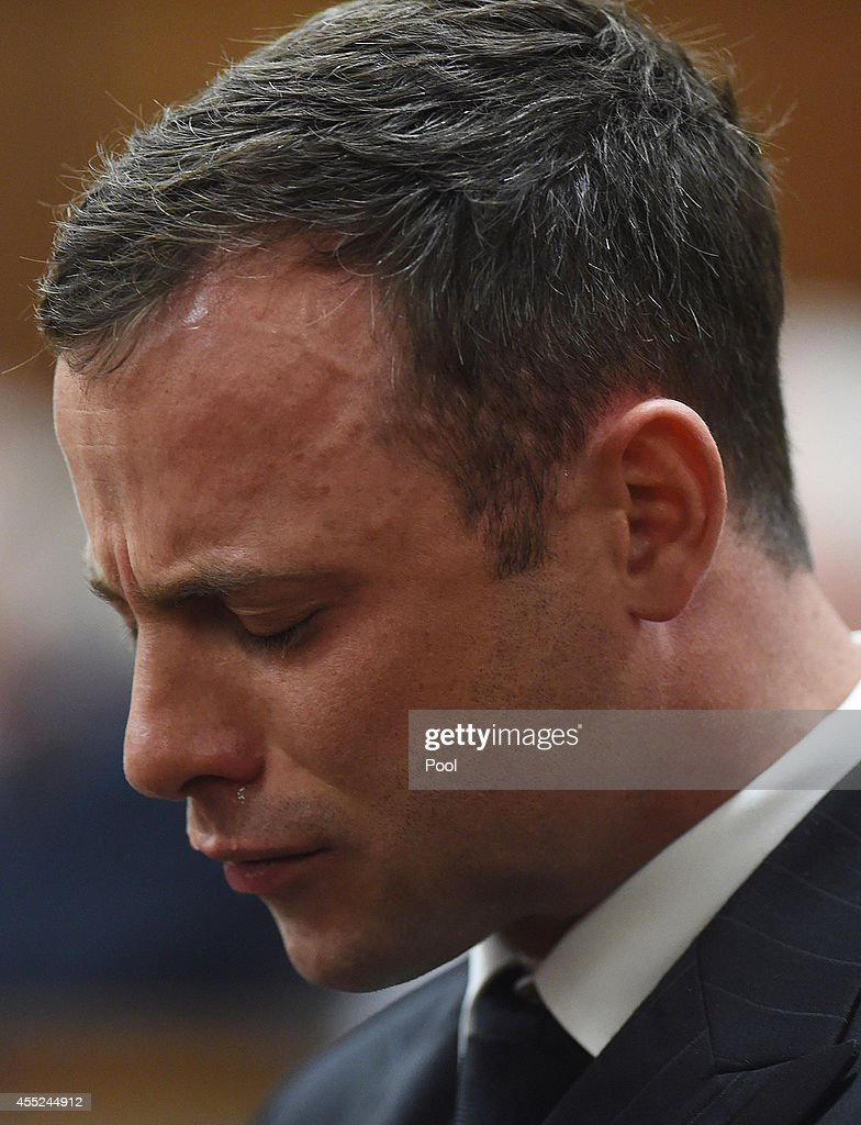 Oscar Pistorius Is Tried For The Murder Of His Girlfriend Reeva Steenkamp : News Photo