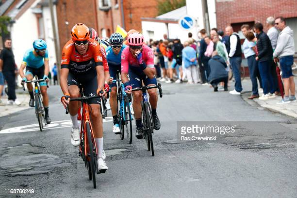 Oscar Riesebeek of The Netherlands and Team RoompotCharles / Mitchell Docker of Australia and Team EF Education First / Carlos Verona of Spain and...