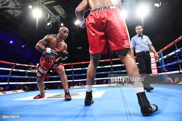Oscar Rivas and Gabriel Enguema during the event No Limit Levallois at Salle Marcel Cerdan on December 14 2017 in Paris France