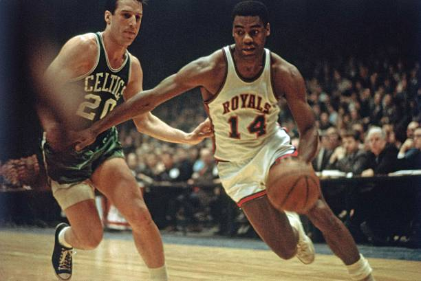 Oscar Robertson Action Portrait
