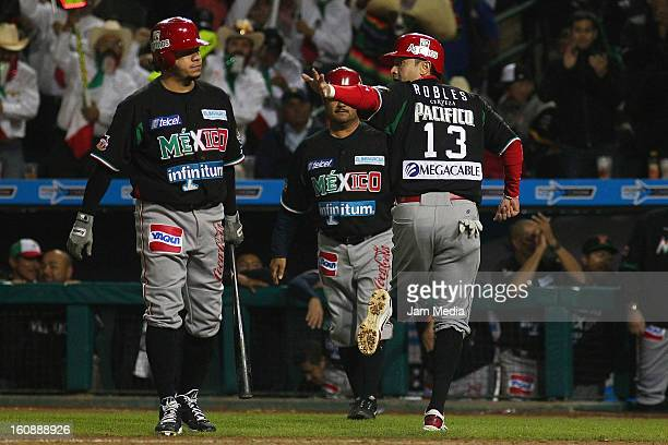 Oscar Robles of Mexico runs during a match between Mexico and Puerto Rico for the Caribbean Series 2013 on February 6 2013 in Hermosillo Mexico