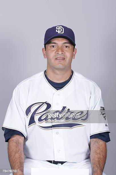 Oscar Robles of the San Diego Padres poses during photo day at Peoria Stadium on February 23 2007 in Peoria Arizona