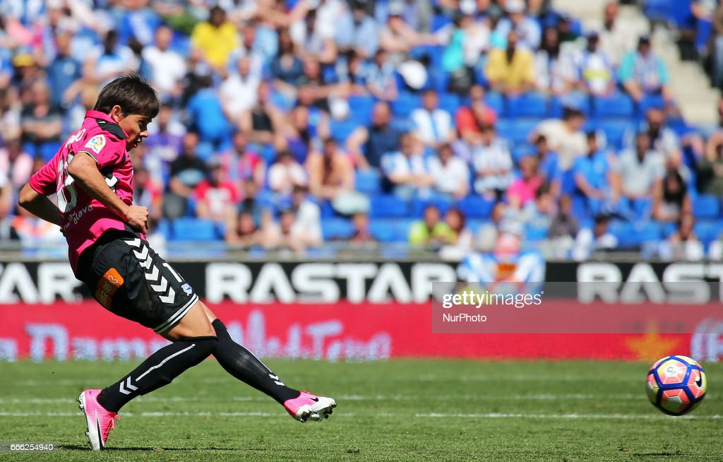 Oscar Romero during the match between RCD Espanyol and Deportivo Alaves, on April 08, 2017.