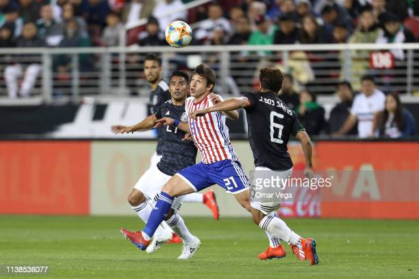Oscar Romero of Paraguay controls the ball during the friendly match between Paraguay and Mexico at Levi's Stadium on March 26 2019 in Santa Clara...