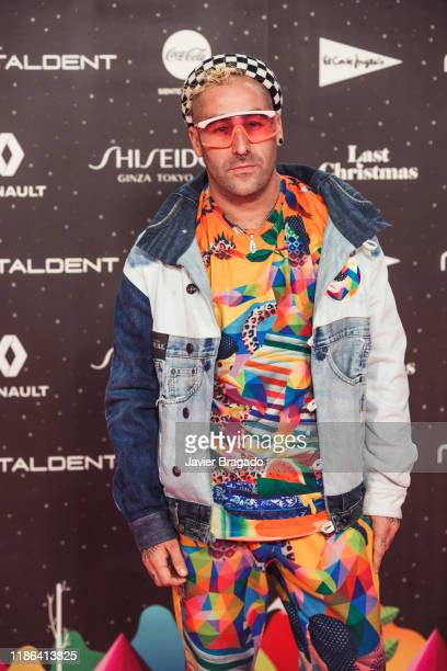 Oscar San Miguel aka Okuda attends 'Los40 music awards 2019' photocall at Wizink Center on November 08 2019 in Madrid Spain