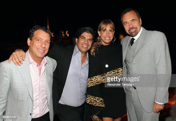 Oscar Seikaly Lorenzo Luaces Lili Estefan and Jorge Perez attend a private dinner for Bugari and Save the Children at Vizcaya Museum Gardens on...