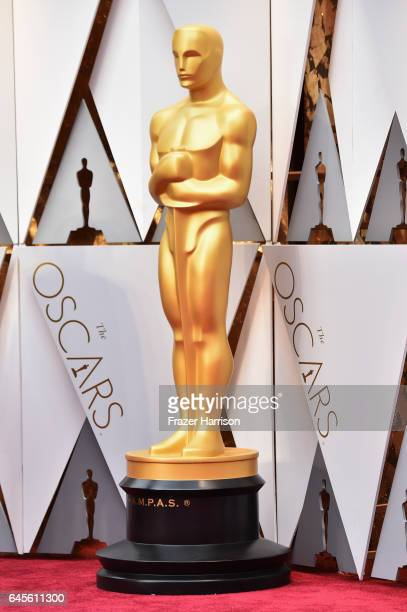 Oscar statue on display at the 89th Annual Academy Awards at Hollywood Highland Center on February 26 2017 in Hollywood California