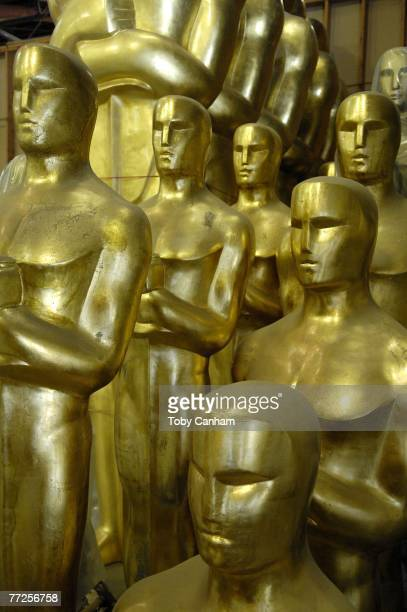 Oscar statues await preparation and painting for the 80th Academy Awards October 10 2007 in Saugus California