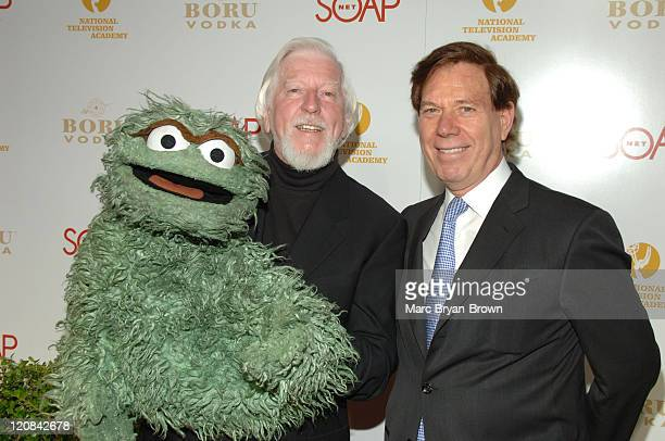 Oscar the Grouch Caroll Spinney and NATAS President Peter Price at the SOAPnet Daytime Emmy Nominee Party