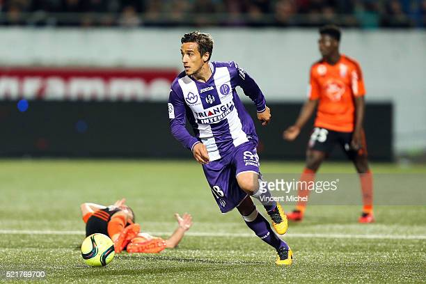 Oscar Trejo of Toulouse during the French Ligue 1 between Lorient and Toulouse at Stade du Moustoir on April 16 2016 in Lorient France