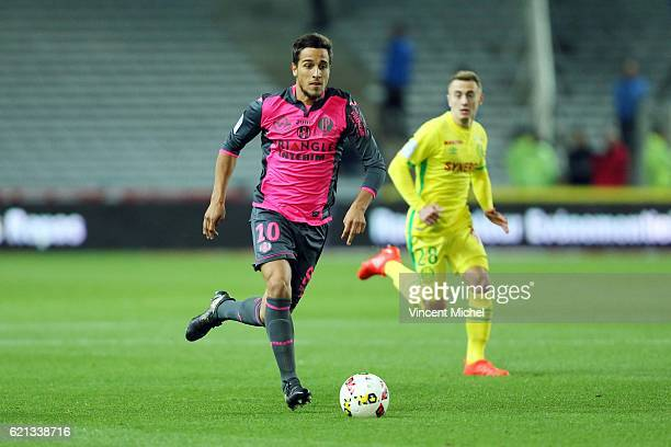 Oscar Trejo of Toulouse during the Ligue 1 match between Fc Nantes and Toulouse Fc at Stade de la Beaujoire on November 5 2016 in Nantes France
