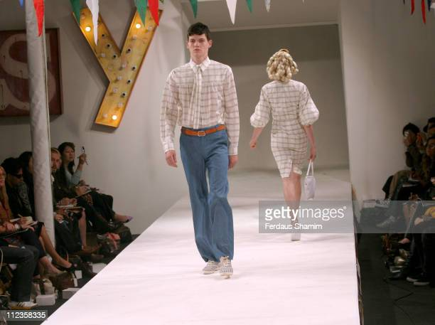 Oscar wearing Peter Jensen Spring/Summer 2006 during London Fashion Week Spring/Summer 2006 Peter Jensen Runway and Backstage at Berkeley Square in...