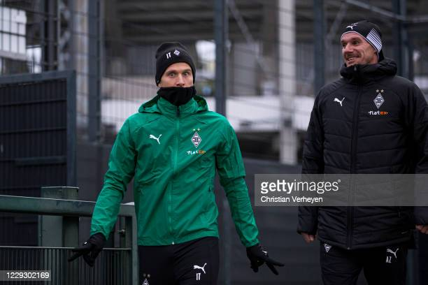 Oscar Wendt during a Training session of Borussia Moenchengladbach at Borussia-Park on October 26, 2020 in Moenchengladbach, Germany.