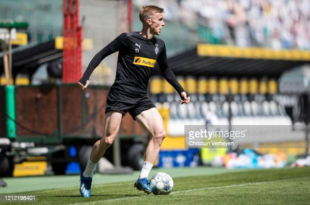 Oscar Wendt in action during a training session of Borussia Moenchengladbach at BorussiaPark on May 08 2020 in Moenchengladbach Germany
