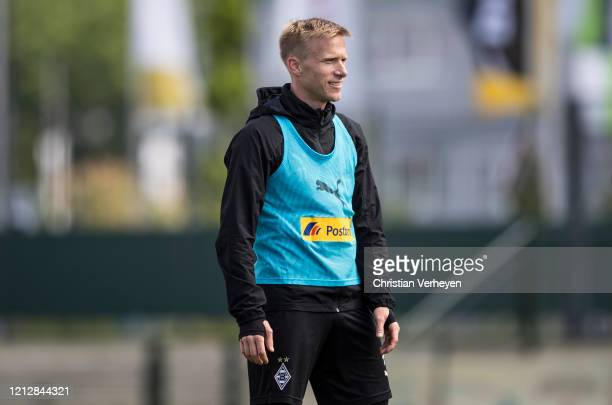 Oscar Wendt in action during a training session of Borussia Moenchengladbach at BorussiaPark on May 12 2020 in Moenchengladbach Germany