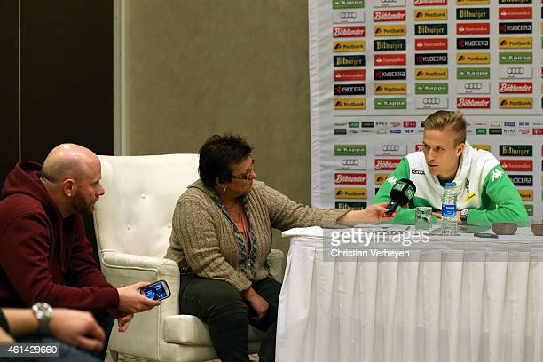 Oscar Wendt of Borussia Moenchengladbach at the press conference at day five of Borussia Moenchengladbach training camp on January 12 2015 in Belek...