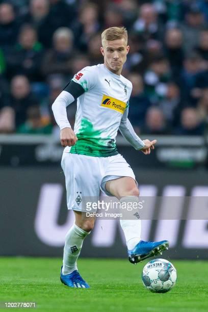 Oscar Wendt of Borussia Moenchengladbach controls the ball during the Bundesliga match between Borussia Moenchengladbach and TSG 1899 Hoffenheim at...