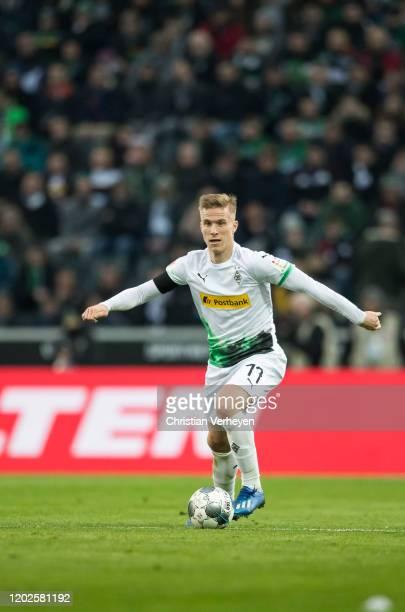 Oscar Wendt of Borussia Moenchengladbach in action during the Bundesliga match between Borussia Moenchengladbach and TSG 1899 Hoffenheim at...