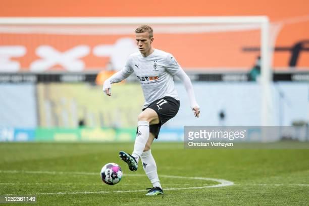 Oscar Wendt of Borussia Moenchengladbach in action during the Bundesliga match between Borussia Moenchengladbach and Eintracht Frankfurt at...