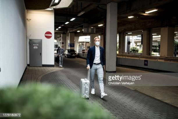 Oscar Wendt of Borussia Moenchengladbach is seen during Borussia Moenchengladbach departs to the Group B UEFA Champions League match between FC...