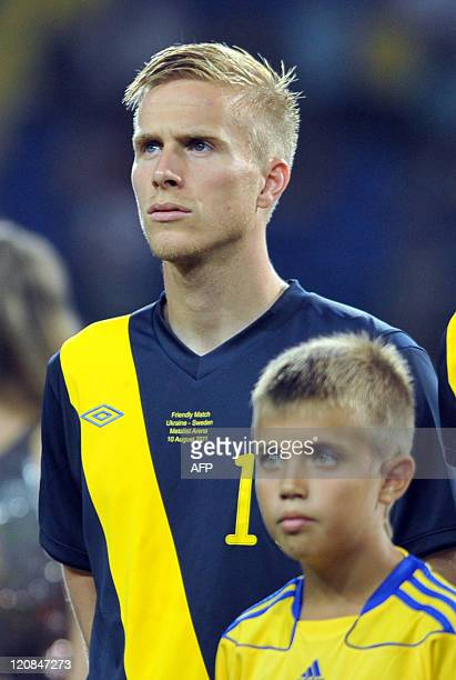Oscar Wendt of the Swedish national football team poses for a photo before an international friendly match against Ukraine in Kharkiv on August 10...