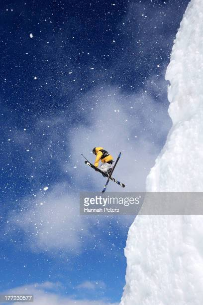 Oscar Wester of Sweden competes in the FIS Freestyle Ski Slopestyle World Cup Qualifying during day nine of the Winter Games NZ at Cardrona Alpine...