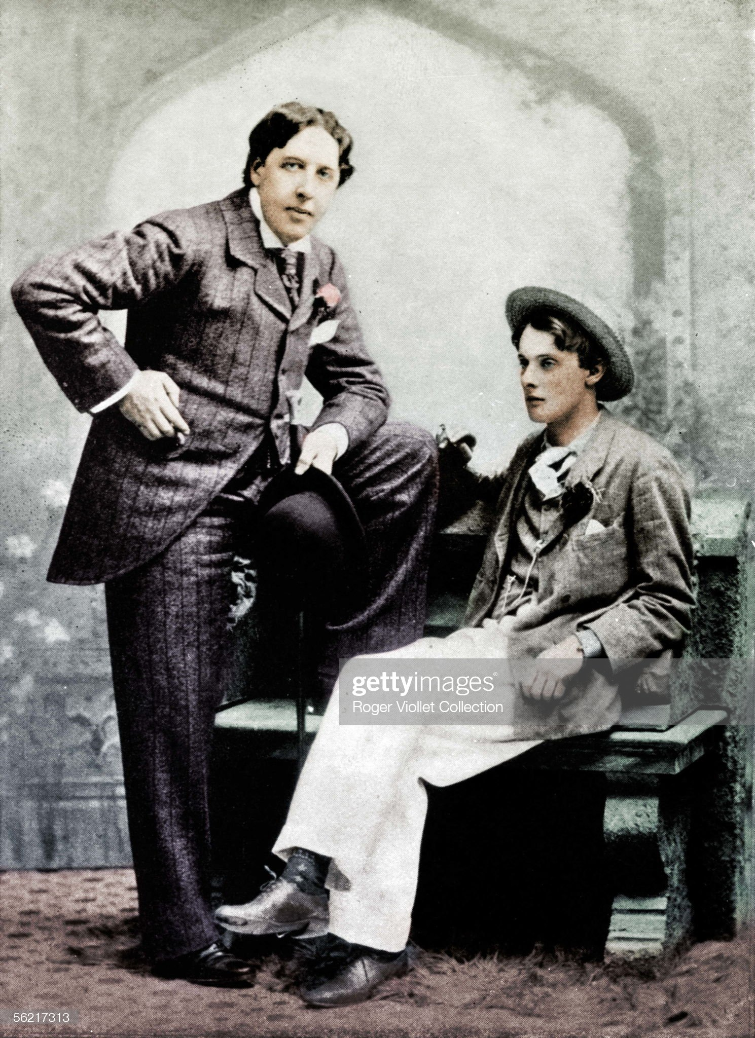 Oscar Wilde (1854-1900) and Lord Alfred Douglas, B : Fotografía de noticias