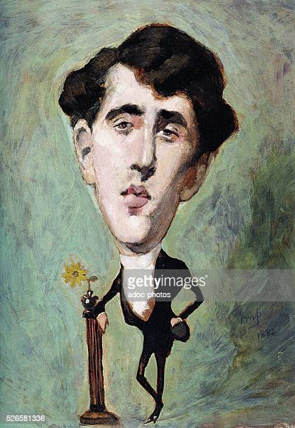 Oscar Wilde as a dandy By Julius Mandes Price Ca 1883
