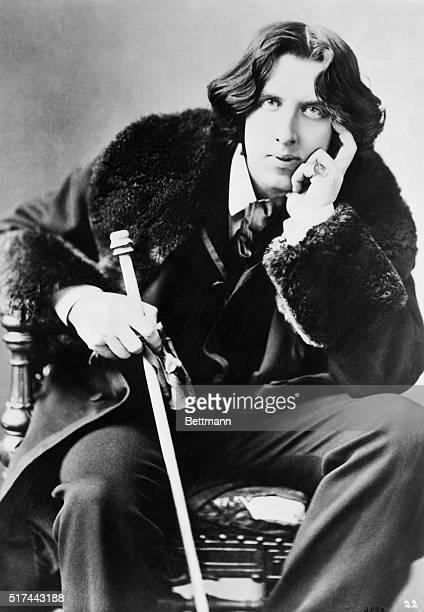 Oscar Wilde, Irish dramatist, poet, and wit, born Oscar Fingal O'Flahertie Wills in 1854.