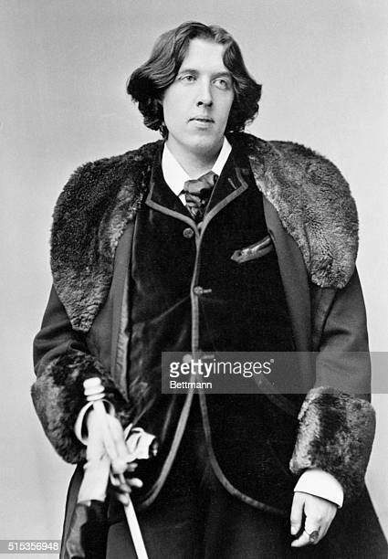 Oscar Wilde Irish poet and wit Photograph taken by Sorony in 1882 during the poet's tour through the US