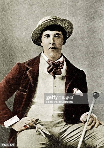 Oscar Wilde Irish writer in America Guillot de Saix Collection Colourized photo
