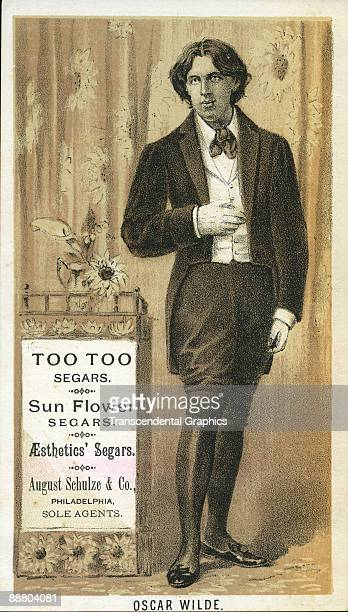 Oscar Wilde sells cigars on this c1885 trade card from New York