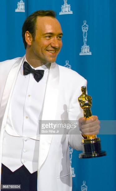 Oscar Winner Actor Kevin Spacey backstage during 1996 Academy Awards Show on March 25 in Los Angeles California