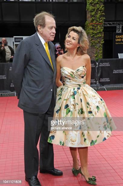 Oscar winner and director Arthur Cohn and violinist AnneSophie Mutter arrive for the gala 'Arthur Cohn Der Mann mit den Träumen' at the Munich Film...