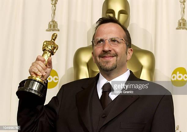 Oscar winner Aron Warner for Best Animated Feature 'Shrek'