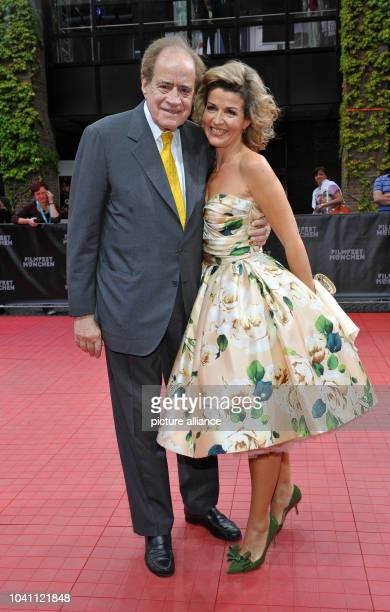Oscar winner Arthur Cohn and violinist AnneSophie Mutter arrvie for the gala 'Arthur Cohn Der Mann mit den Träumen' at the Munich Film Festival 2014...