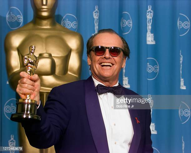 Oscar Winner Jack Nicholson backstage at Academy Awards Show, March 23, 1998 in Los Angeles, California