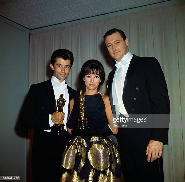 Oscar Winners George Chakiris and Rita Moreno with Rock Hudson