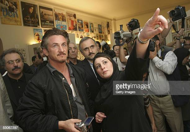 Oscar winning American actor, Sean Penn, is pictured during a visit to the Tehran film museum on June 13, 2005 in Tehran, Iran. Penn, warming to his...