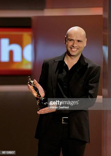 Oscar winning director Jochen Alexander Freydank attends the Wetten dass...? show at the Messe Duesseldorf on February 28, 2009 in Duesseldorf,...