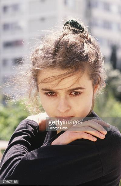 Oscar-nominated actress Helena Bonham Carter, poses during a 1989 West Los Angeles, California, photo portrait session. Bonham Carter is married to...
