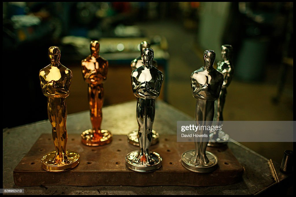 Oscars�� in different stages of completion at the R.S.Owens factory. Each Oscar�� is hand cast, polished,numbered and gold-plated at the R.S.Owens factory in Chicago.