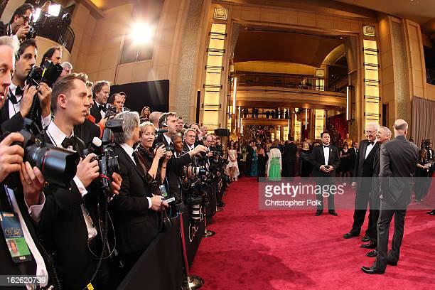 Oscar's Telecast Director Don Mischer Oscar's Telecast Executive Producers Craig Zadan and Neil Meron arrive at the Oscars held at Hollywood Highland...