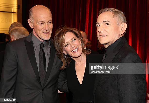 Oscar's Telecast Executive Producers Craig Zadan CoChair of Disney Media Networks and President of DisneyABC Television Group Anne Sweeney and Neil...