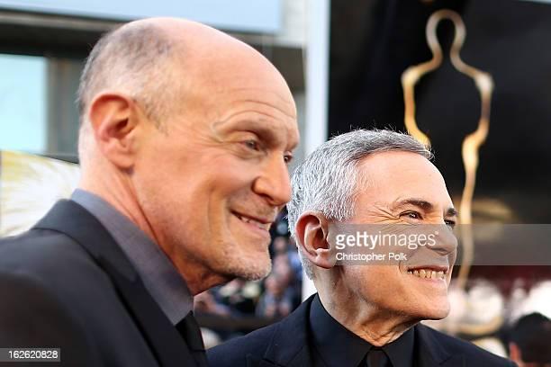 Oscar's Telecast Executive Producers Neil Meron and Craig Zadan arrive at the Oscars held at Hollywood Highland Center on February 24 2013 in...