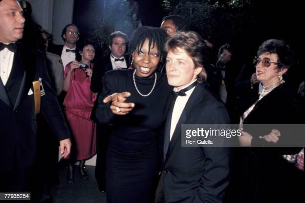 Oscars Whoopi Goldberg Michael J Fox CR Ron Galella/Ron Galella Ltd